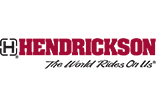 Hendrickson logo - a capital letter H in a square box with the word HENDRICKSON in bold red letters. Underneath it reads The World Runs On Us.